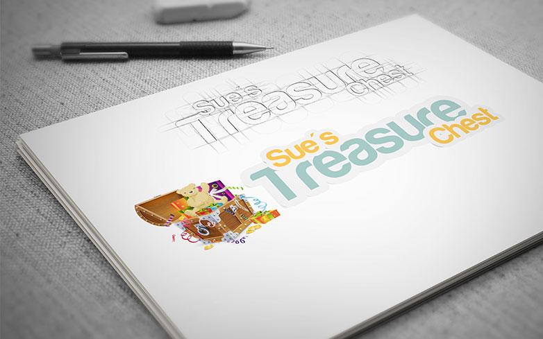 Sue's Treasure Chest – Logo Design